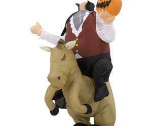 Inflatable Headless Horseman Illusion Costume