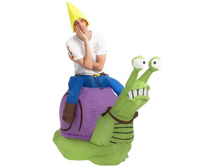 Inflatable Ride on a Snail Costume