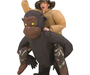 Inflatable Riding Gorilla Halloween Costume