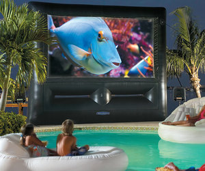 Inflatable SuperScreen Outdoor Theater System - Ultimate Home Theater!