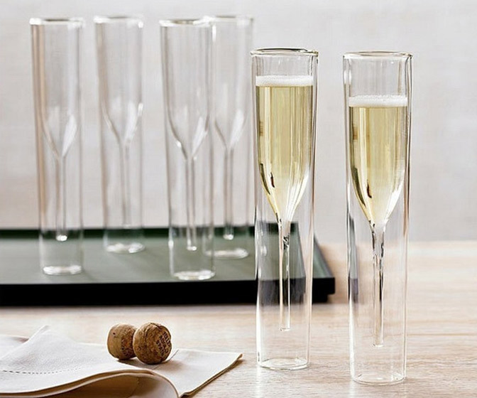 Inside-Out Champagne Flutes