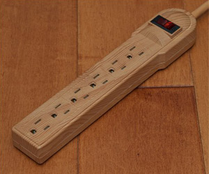 Invisiplug Power Strip - Blends In With Hardwood Floors