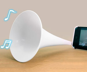 iPhone Bugle Horn Speaker