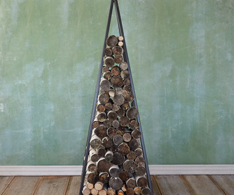 Iron Pyramid Log Holder