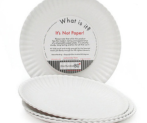 It's Not Paper! - Reusable Paper Plates