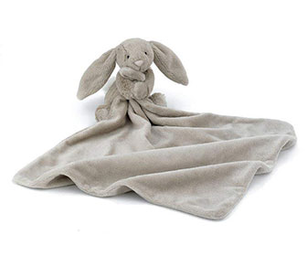 Jellycat Bashful Bunny Soother Baby Security Blanket