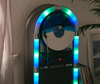 Jukebox Vertical Bluetooth Record Player