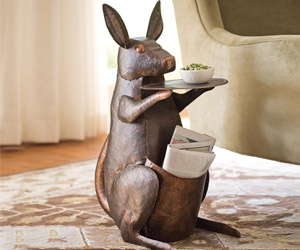 Kangaroo Side Table with Pouch Storage