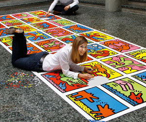 Keith Haring: Double Retrospect - World's Largest Jigsaw Puzzle (32,256 pieces)