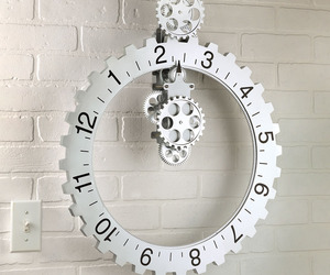 Kikkerland Big Wheel Revolving Gear Wall Clock