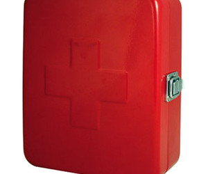 Kikkerland Steel First Aid Box