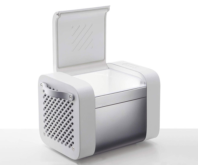 KUBE - Futuristic Outdoor Speaker and Beverage Cooler