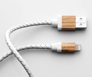 Le Cord Leather and Wood Charge Cable for iPhone and iPad