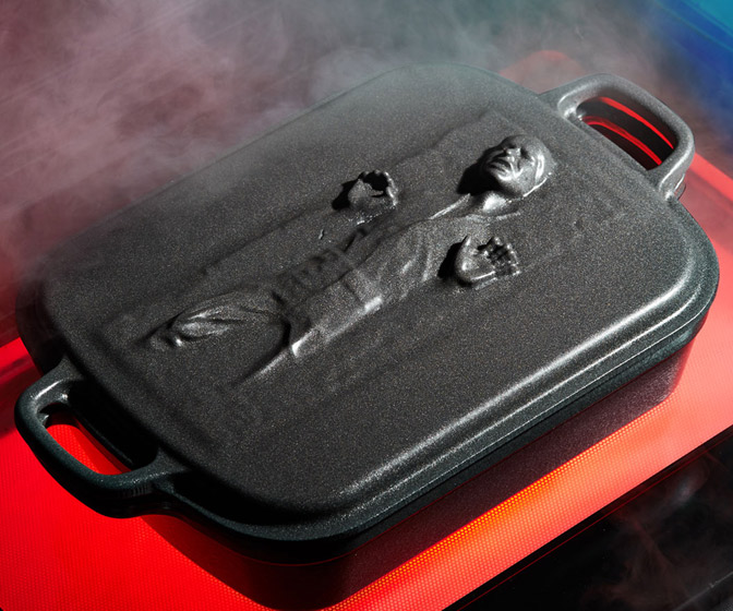 Le Creuset Star Wars Han Solo Frozen in Carbonite Roasting Pan