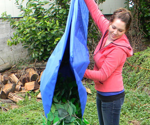 Leaf and Yard Waste Collection Tarp