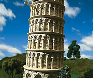 Leaning Tower of Pisa - Birdhouse / Bird Feeder