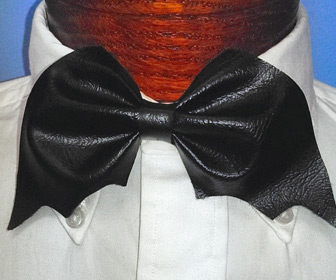 Leather Bat Bow Tie