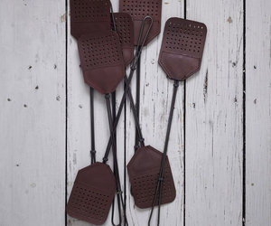 Leather + Steel Fly Swatters