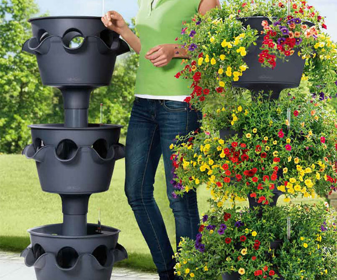 Lechuza Cascada - Three Level Planter Tower