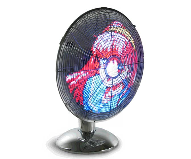 LED Art Fan - Animates Images & Logos on the Blades