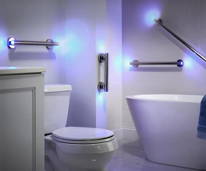 LED Illuminated Grab Bars