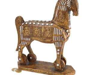 Legendary Trojan Horse Sculpture