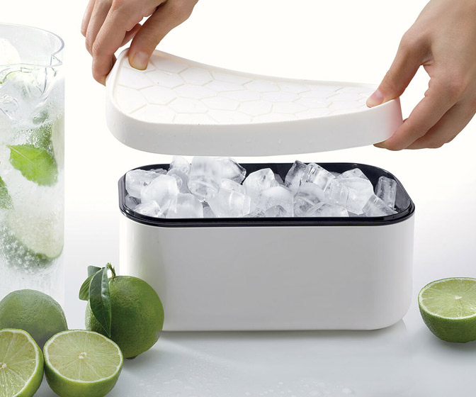 Lekue Ice Box - Makes, Stores, and Serves Ice Cubes
