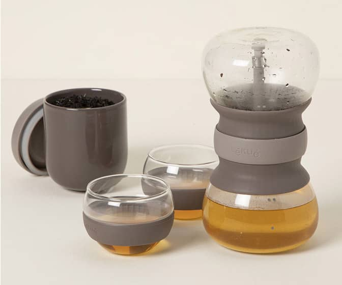 Lekue Tea Ritual Set With Rainfall-Effect Hourglass Infuser