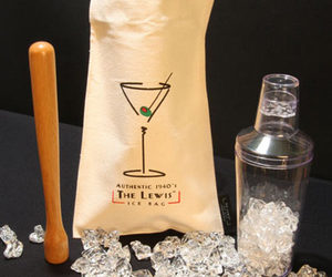 Authentic 1940's Lewis Ice Bag - Ice-Crushing Kit