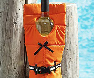 Life Preserver Wine Bottle Cover