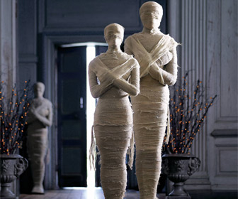 Life-Size Wrapped Mummy Statues