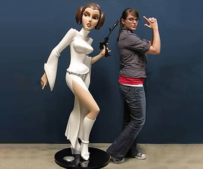 Star Wars Lifesize Princess Leia Statue