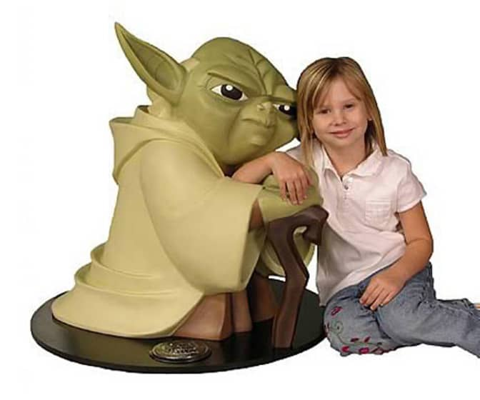 Lifesize Yoda Statue from Star Wars: Clone Wars