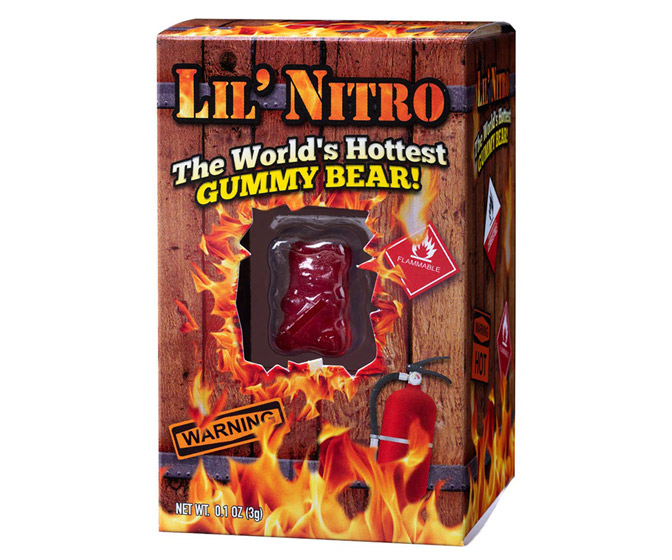 Lil' Nitro - The World's Hottest Gummy Bear - 9 Million Scoville!