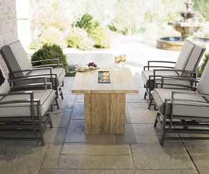 Linear Gas Fire Pit Table