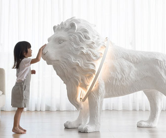 Lion X - Lifesize Lion Statue Floor Light