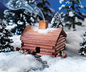 Log Cabin Incense Burner