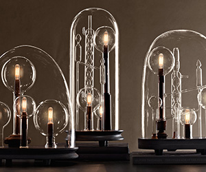 Mad Scientist Chemistry Lamps Beneath Glass Cloches