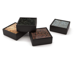 Man Coasters - Handmade from Granite and Rubber