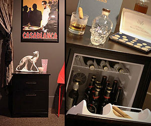 Man Tables - Mini Fridge End Tables