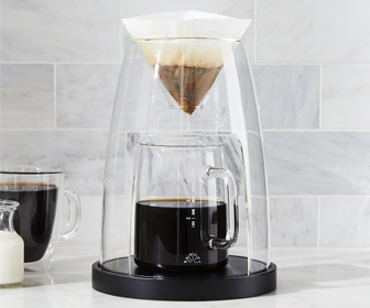 Manual Coffeemaker Glass No. 2 - Sculptural Single Serve Pour-Over Coffee Brewer