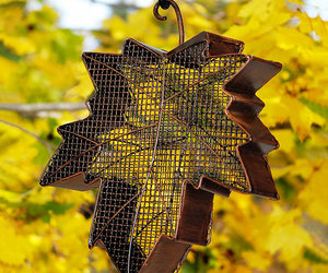 Maple Leaf Hanging Bird Feeder