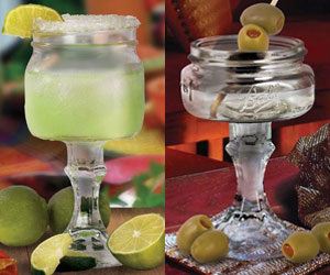 Mason Jar Margarita and Martini Glasses