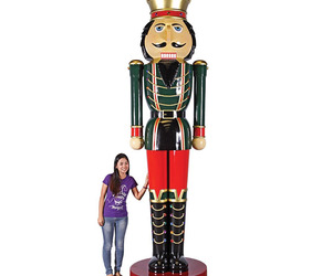 Massive 12 Foot Tall Nutcracker Statue