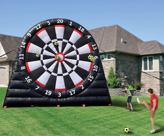 Massive 20 Foot Tall Inflatable Soccer Dartboard