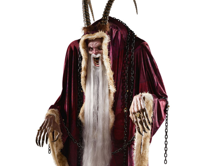 Massive Animatronic Krampus Statue for Halloween / Christmas