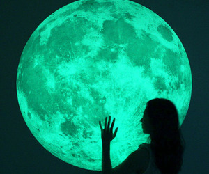 Massive Glow-in-the-Dark Full Moon Wall Sticker