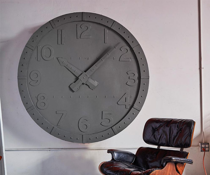 Massive Industrial Wall Clock