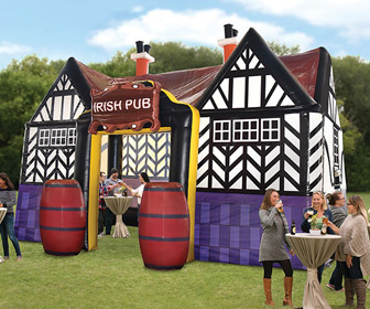 Massive Inflatable Irish Pub