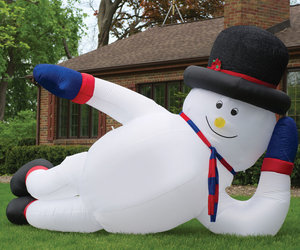 Massive Inflatable Sprawling Snowman